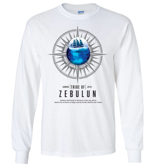 Zebulun Long Sleeve (Unisex and Youth) Black Letter