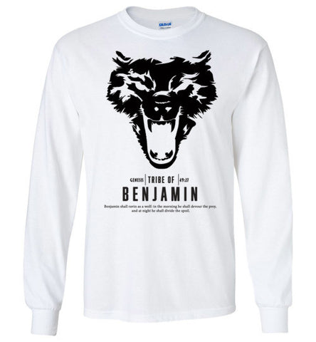 Benjamin Long Sleeve (Unisex and Youth) Black Letter