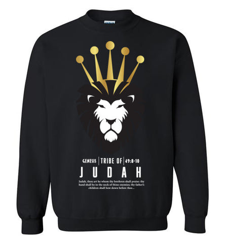 Judah Crewneck Sweatshirt (Unisex and Youth) White Letter
