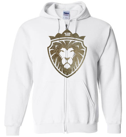 12 Lion of Gold (Unisex and Youth) Zip Hoodie