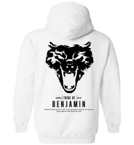 Benjamin Hoodie (Unisex and Youth) Black Letter