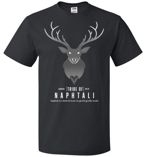 Naphtali Short Sleeve (Unisex and Youth) White Letter