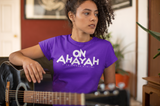 "'On Ahayah"" Ladies Short Sleeve (White Letter)"