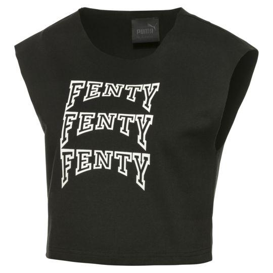 FENTY PUMA by RIHANNA Sleeveless Crop Top Black - Concrete Jungle Sneakers Brunswick Melbourne