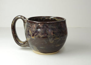 Hand Thrown Stoneware Shaving Mug by White Horse Pottery