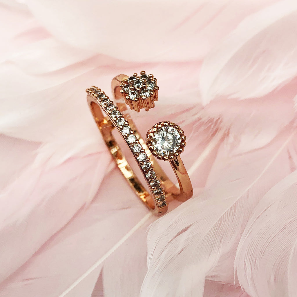 Cubic Zirconia Rose Gold Ring