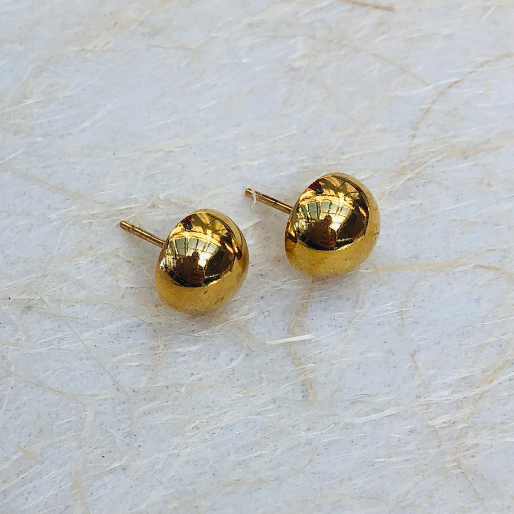 Gold Plated Stainless Steel Stud Earrings