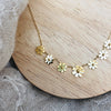 Gold plated Stainless Steel Daisy Necklace