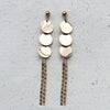 Rose Gold Plated Drop Earrings