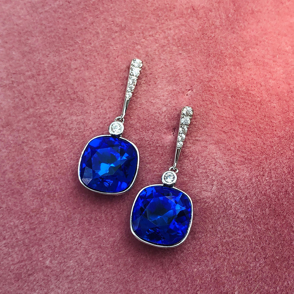 Swarovski Sterling Silver Drop Earrings
