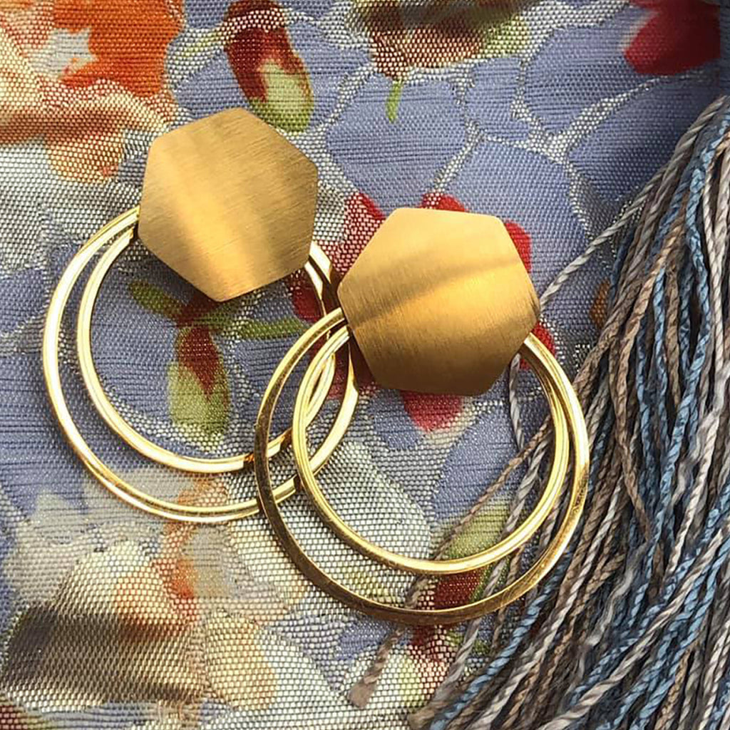 Gold Plated Stainless Steel Hoops