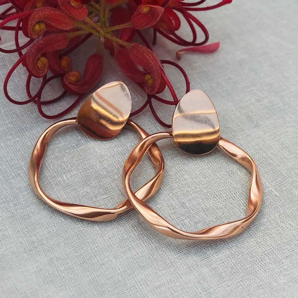Rose Gold Plated Hoops