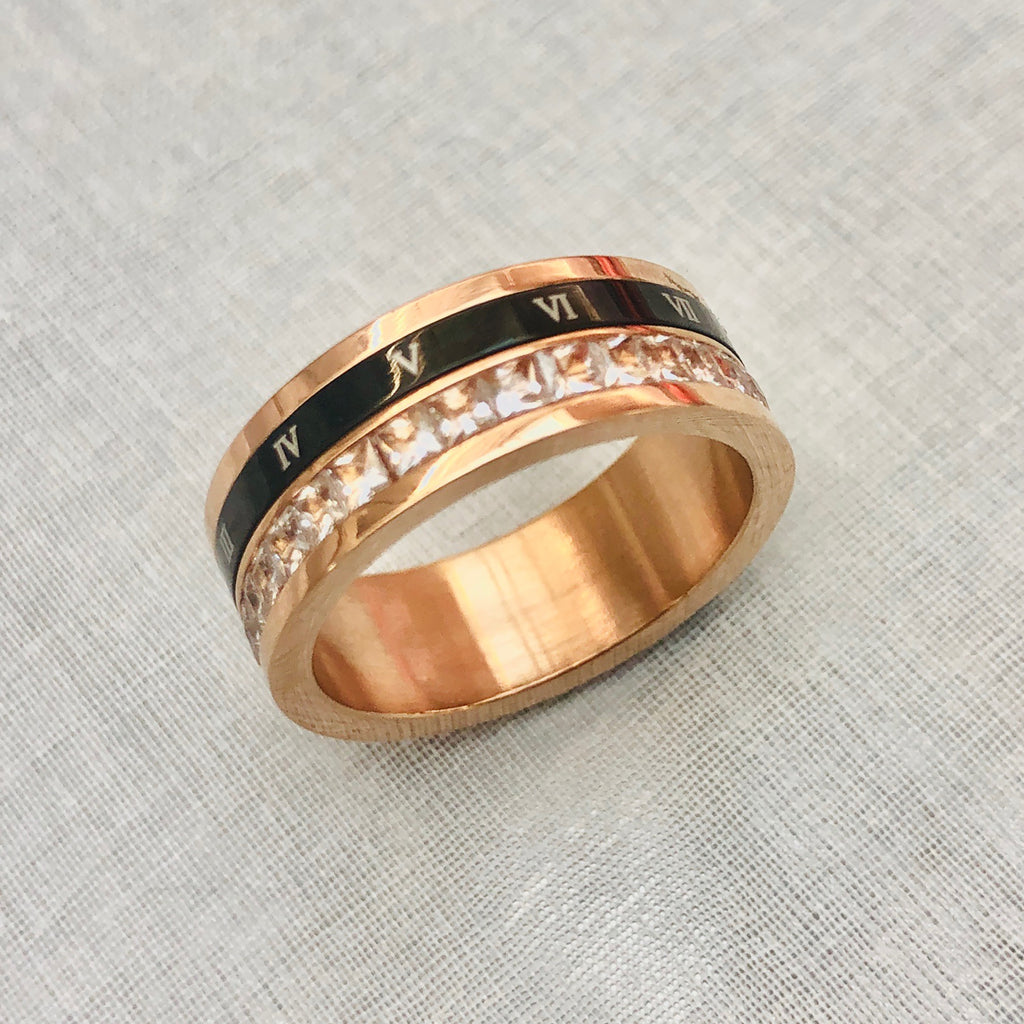 Rose Gold Plated Stainless Steel Ring