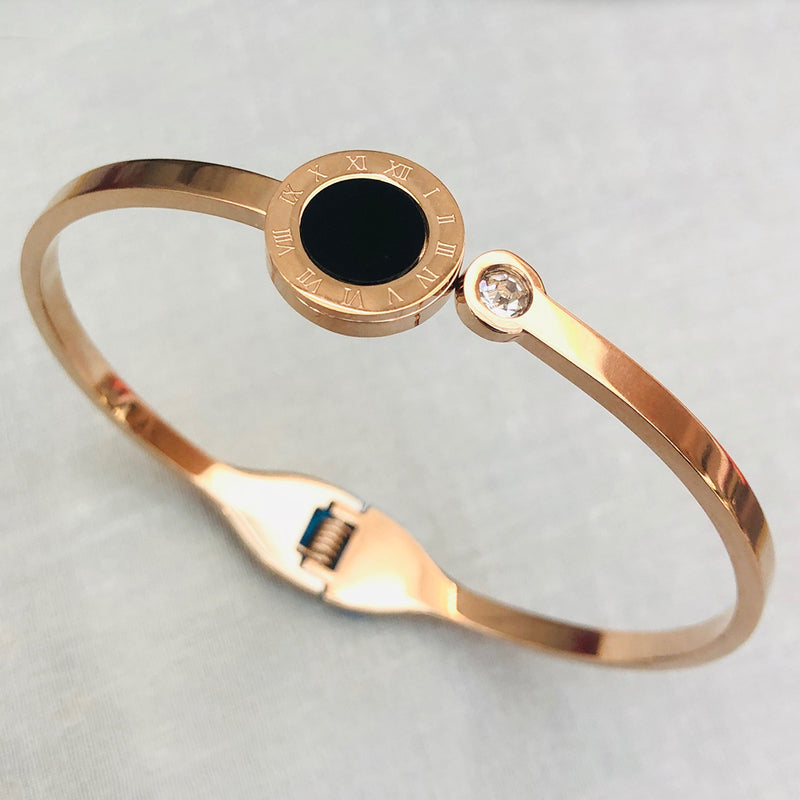 Rose Gold Plated Stainless Steel Bangle