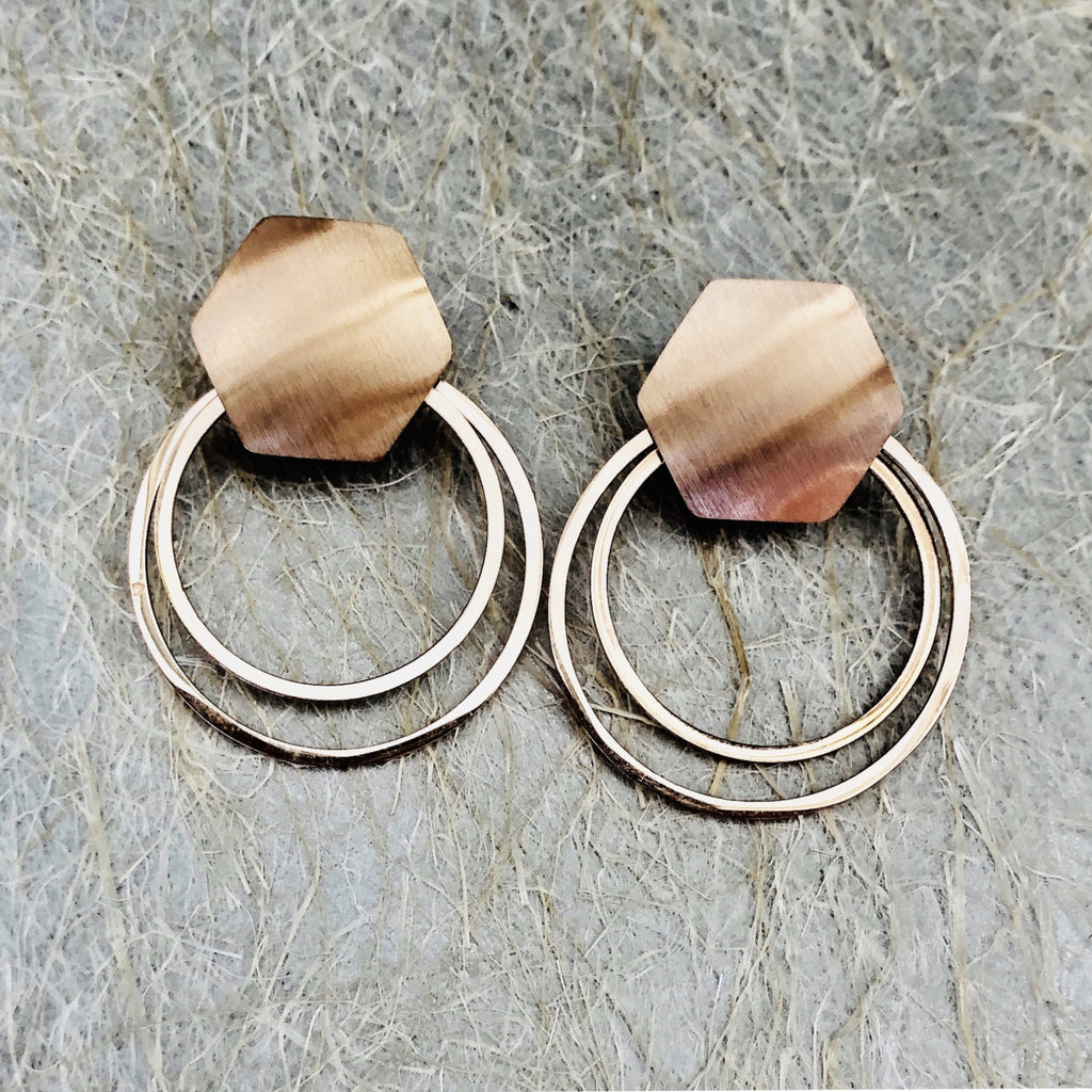 Rose Gold Stainless Steel Plated Hoops
