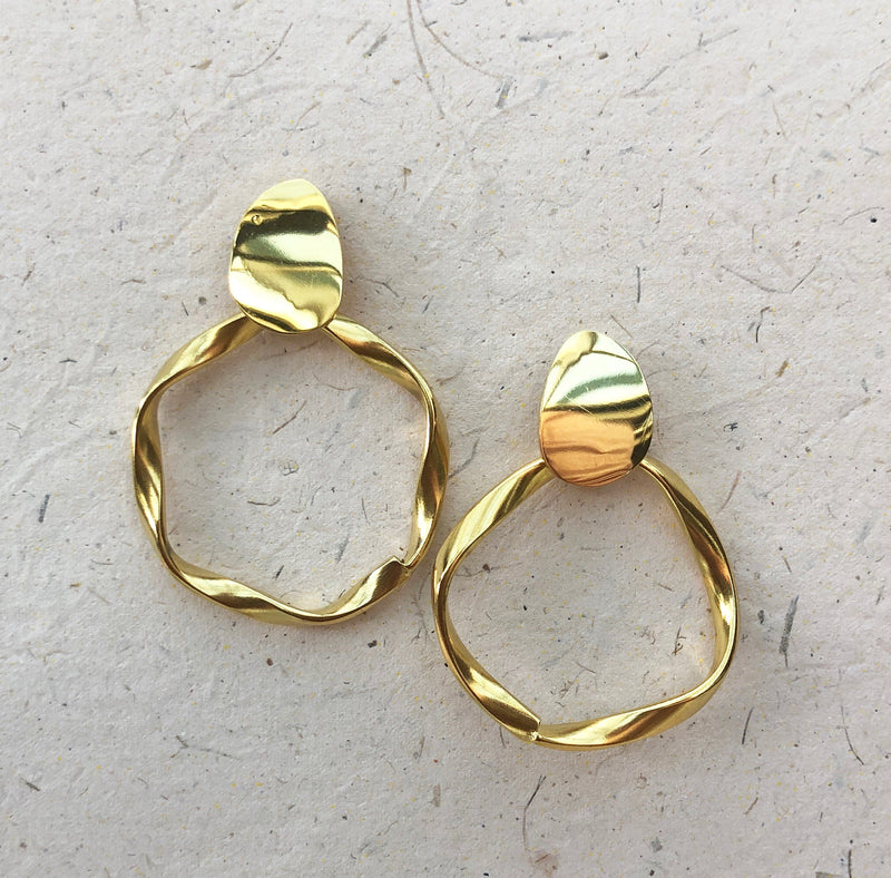 Gold Plated Hoops