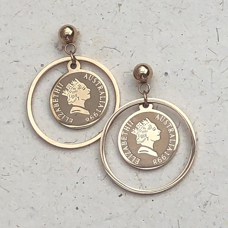 Rose Gold Plated Hoop & Coin Earrings