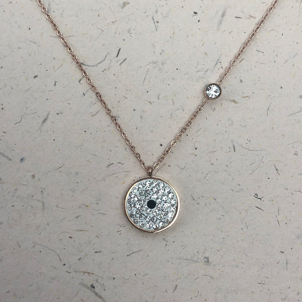 Rose Gold Plated Pavé Crystal Pendant