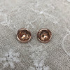 Rose Gold Plated Topaz Cubic Zirconia Earrings