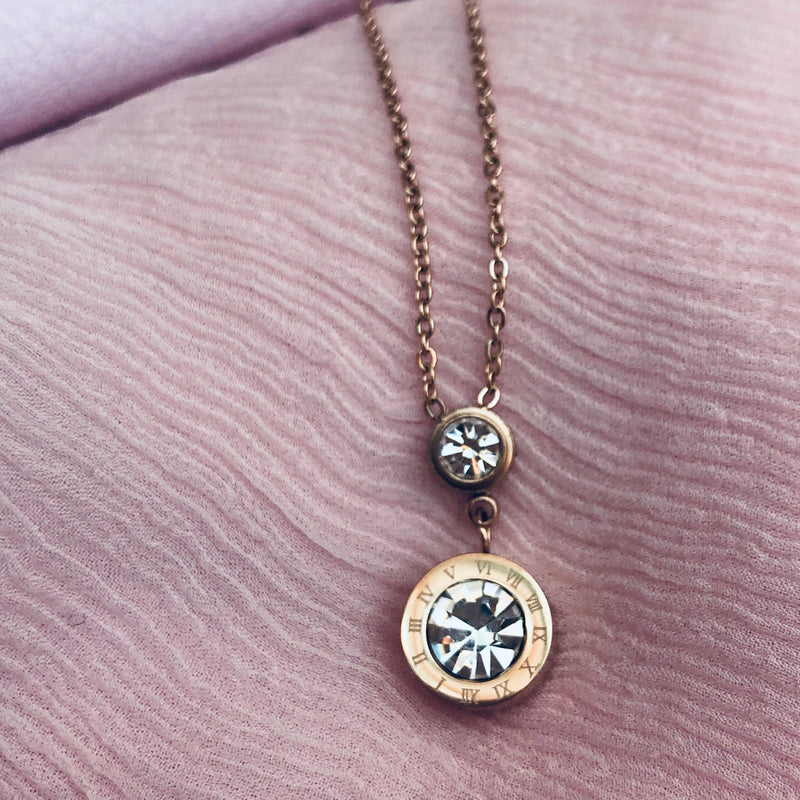 Rose Gold Cubic Zirconia Necklace