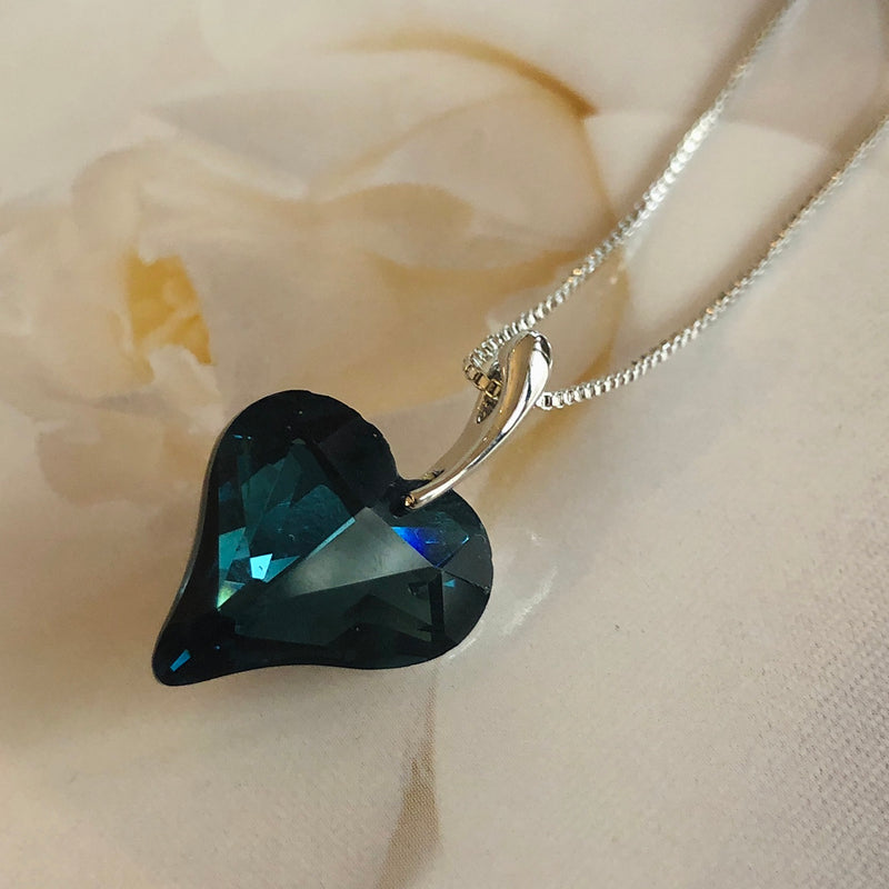 Dark Blue Crystal Pendant
