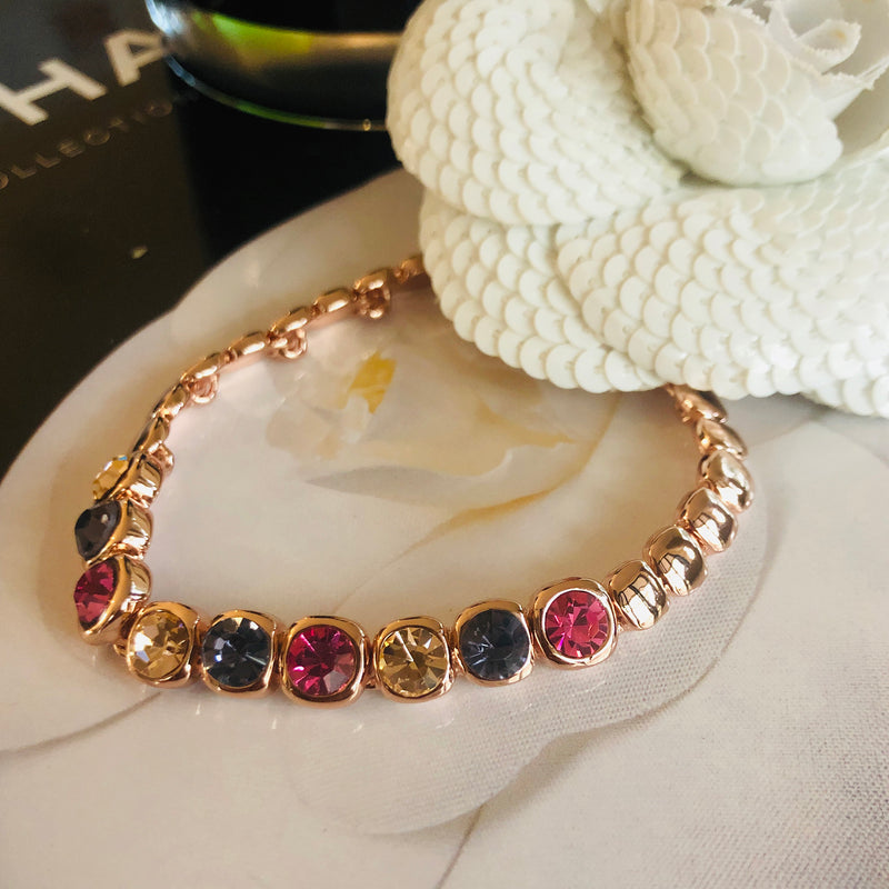 Rose Gold Plated Crystal Bracelet