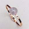 Cubic Zirconia Rose Gold Bangle