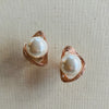 Rose Gold & Pearl Earrings