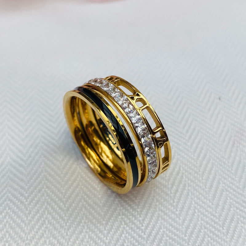 Gold Plated Ring Trio