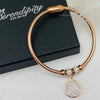 Rose Gold Plated Bracelet with Crystal Charm