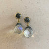 Stainless Steel & Crystal Earrings