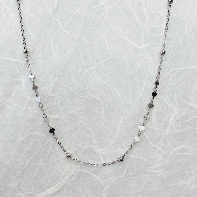 Sterling Silver Heart Chocker Necklace