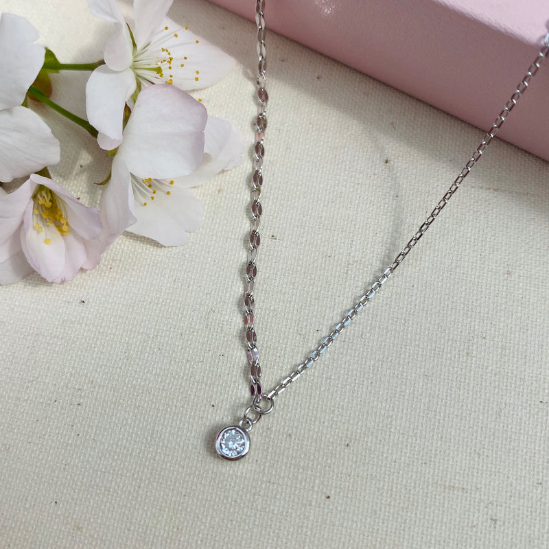 Sterling Silver Mixed Chain Necklace