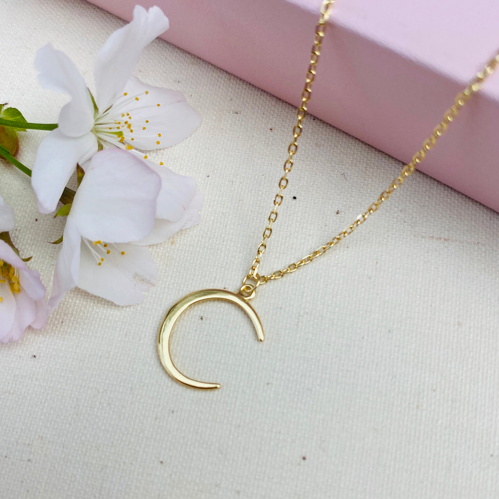 Sterling Silver Gold Plated Horn Necklace