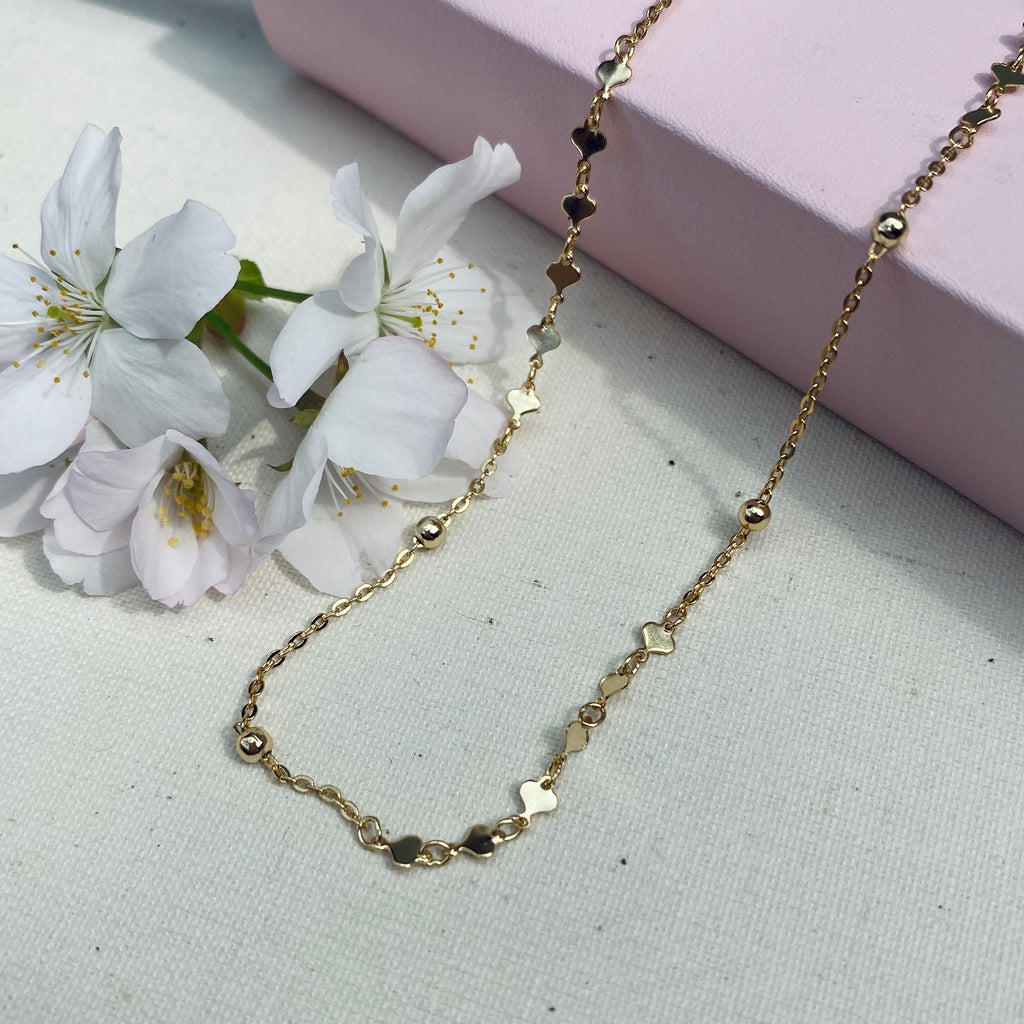 Sterling Silver Gold Plated Heart Choker Necklace