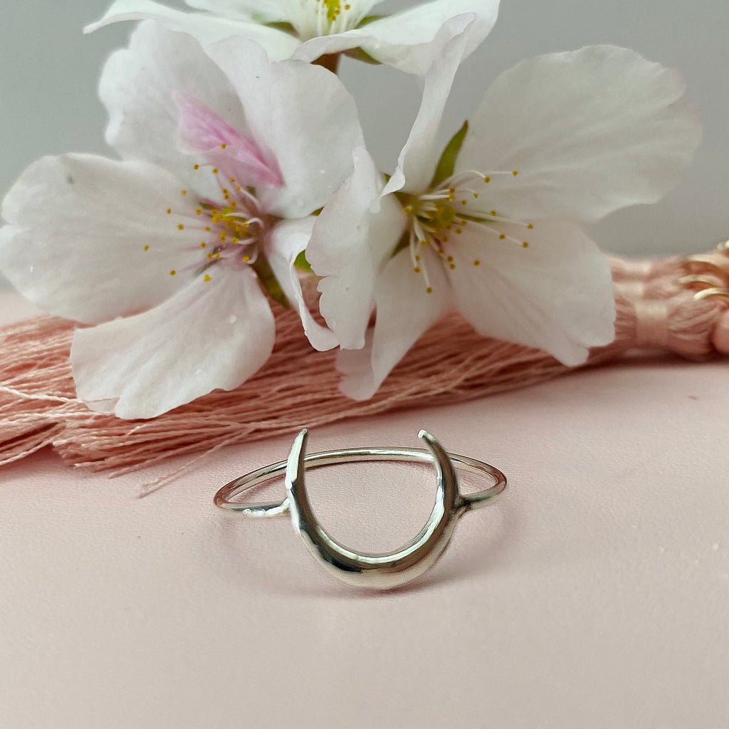 Sterling Silver Horn Ring