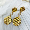 Stainless Steel Gold Plated Circle Drop Earrings