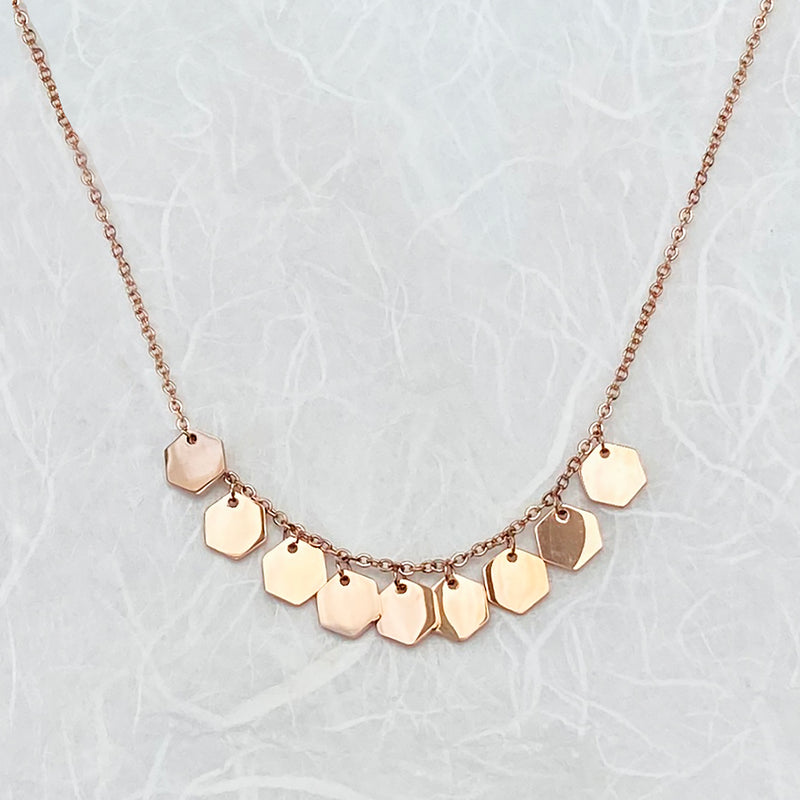Stainless Steel Rose Gold Plated Necklace