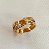 Rose Gold Plated Stainless Steel Roman Numeral Ring
