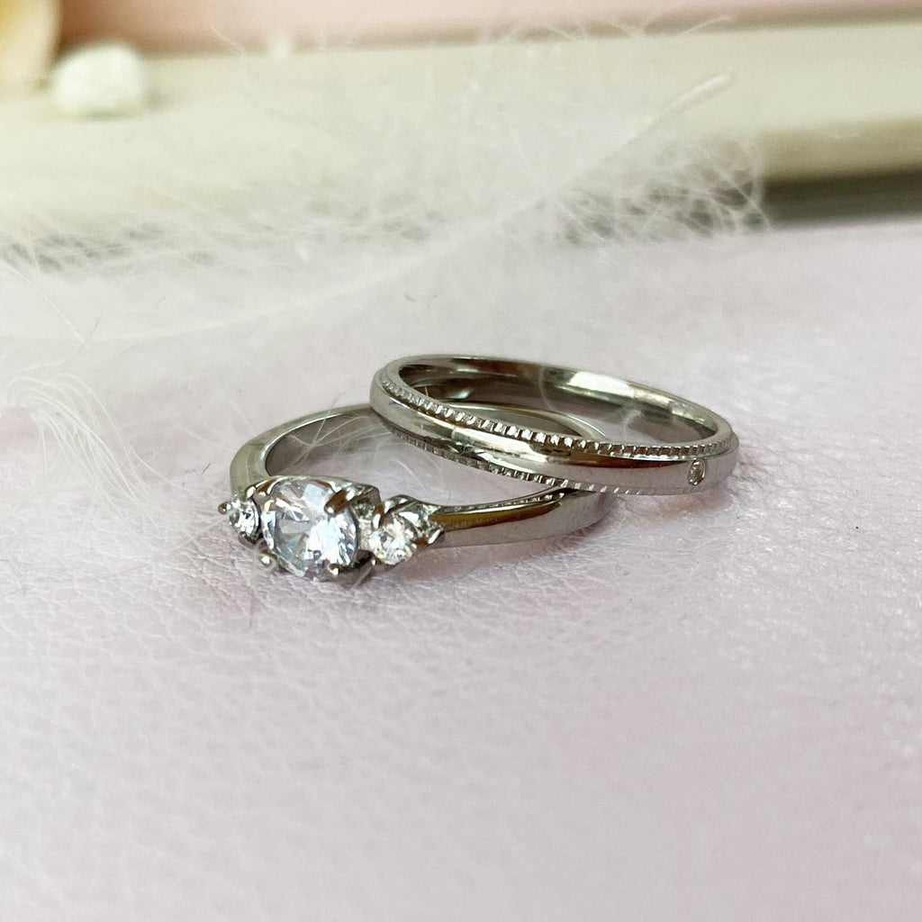 Stainless Steel Ring Duo