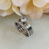 Stainless Steel Trio Ring Set