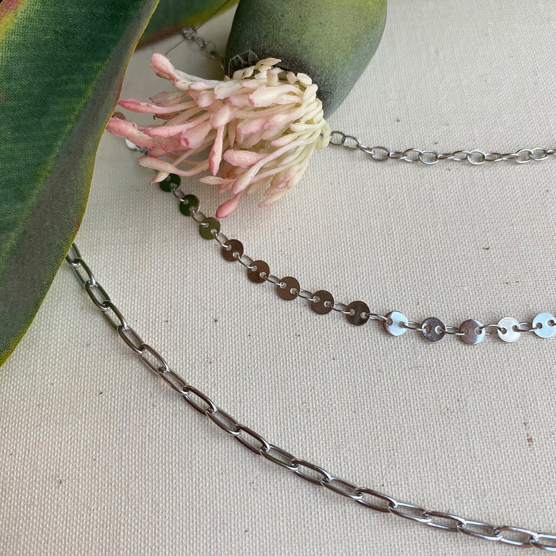 Silver Triple Layered Necklace