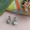 Platinum Plated Cubic Zirconia Earrings