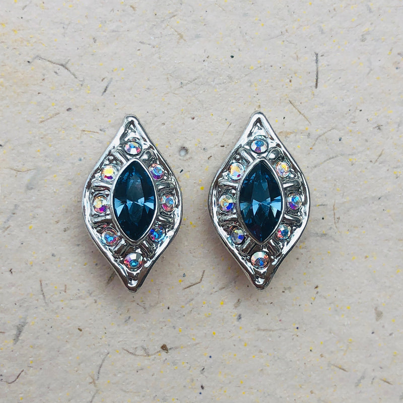 Exquisite Blue Swarovski Crystal Earrings