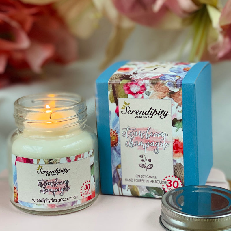 Soy Candle - Strawberry Champagne - 75g - 30hr Burn Time