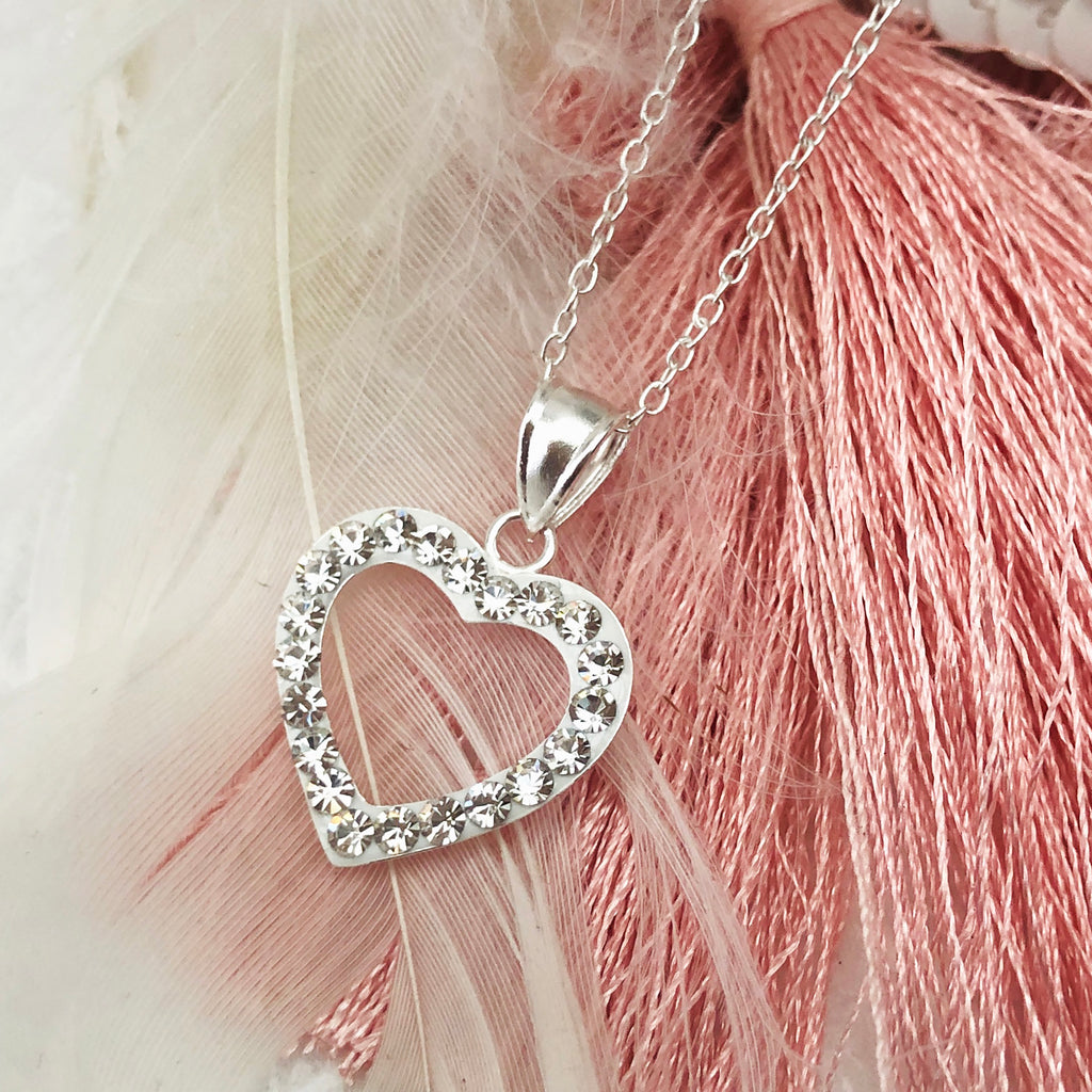 Sterling silver & Cubic Zirconia Heart Pendant