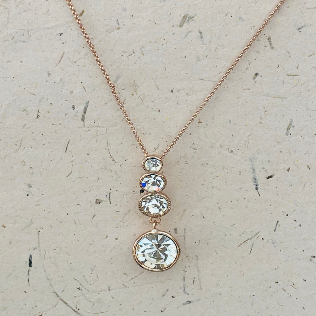 Cubic Zirconia Rose Gold Platinum Plated Pendant