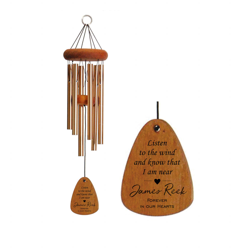 Memorial Wind Chime - 30-Inch | Listen to the Wind with Heart | Sympathy Gift | Bereavement Gift