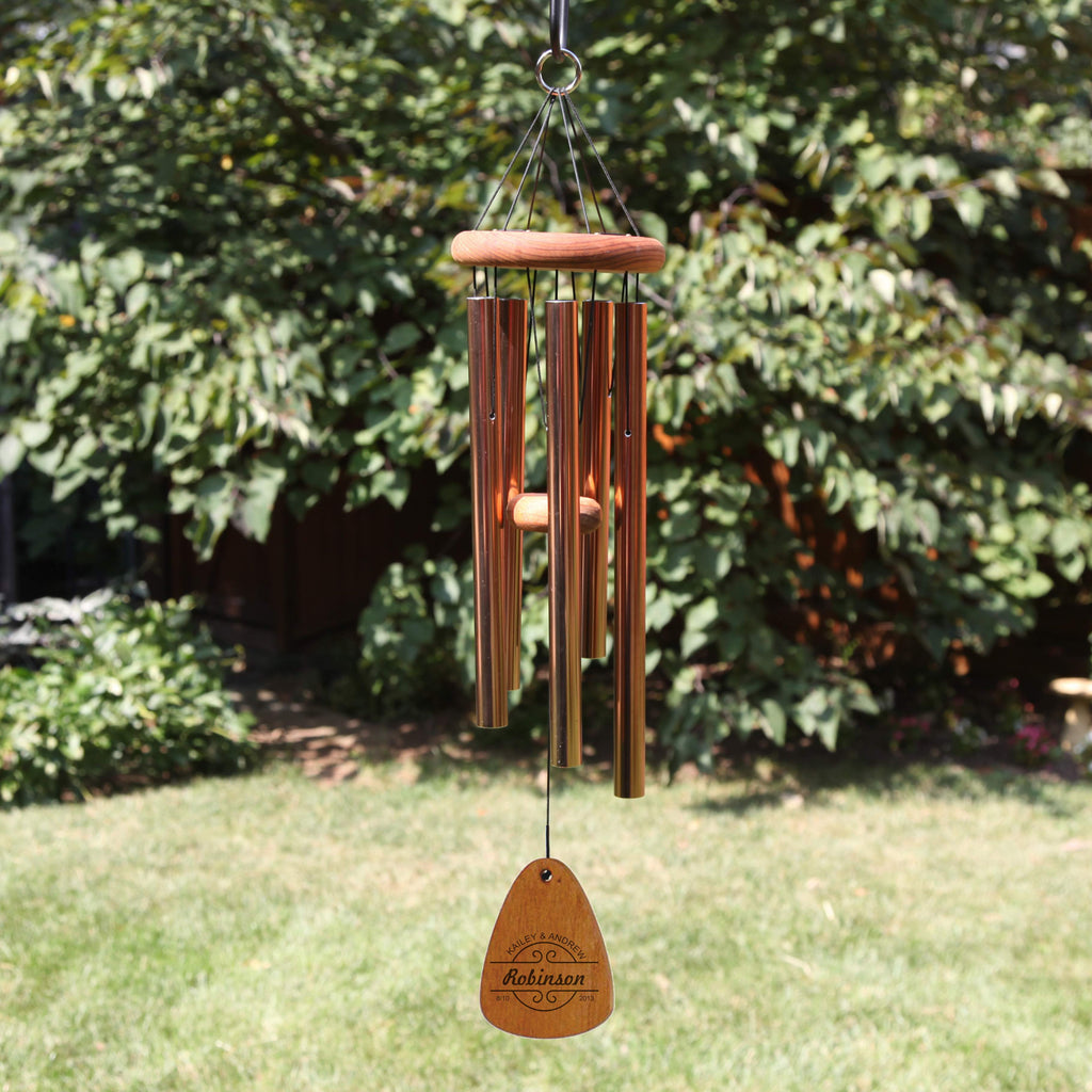 Monogrammed Anniversary wind chime