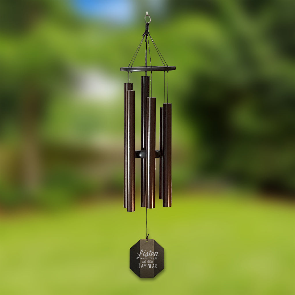 Memorial Wind Chime | Listen and Know | Amish Large Chime | Made in USA